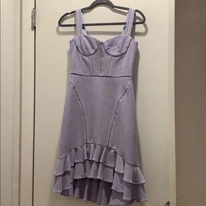 JONATHON SIMKHAI ruffle-trim flared dress
